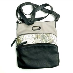 Womens Adjustable Strap Multi Color Bag (L